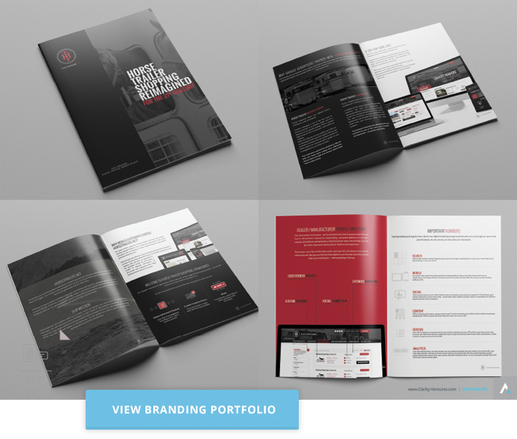 Clarity specializes in high-end designs for logos, branding, collateral and more